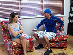 Sex-crazy stepsister Destiny Cruz is craving for stepbrother's big flannel