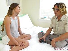 19 yo geek loses his virginity with spoiled stepsister Summer Brooks