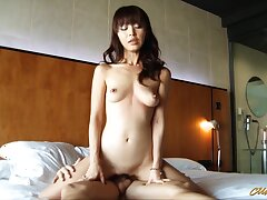 Hot Japanese cougar Marika Hase is riding big and unending dick