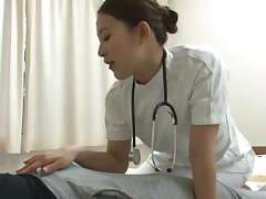 Amateur fucking on dramatize expunge hospital bed not far from cock hungry Misa Mano