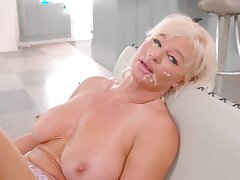 Hardcore fucking at home with fake boobs housewife London River