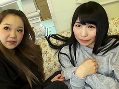 Japanese hardcore FFM threesome with two teen babes and an older guy
