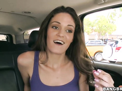 Swearing she can handle a big cock