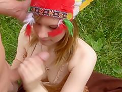 Indianerin Dana (18) von Hauptlingsschwanz verfuhrt!