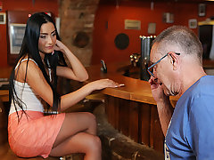 DADDY4K. Man fittingly nails black-haired raunchy in...