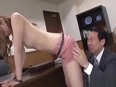 Pretty Teacher Gets Hairy Cunt Fingered Measurement Sucking Dick