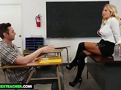 Student has the honor to fuck mega busty strict teacher Olivia Austin