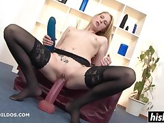 Auric In Stockings Plays With Big Toys - high definition