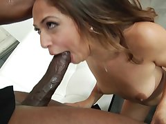 Sara Luvv enjoys Big Black Bushwa and interracial facial cumshot