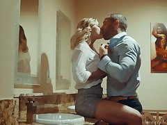 Awesome blowjob provided by Jessa Rhodes is turned into pounding foreign behind