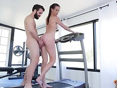 Sofie Marie likes hard sex forwards gym with her handsome trainer