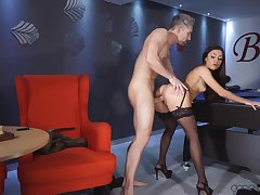 Martina Smeraldi gets fucked and creampied by pool table