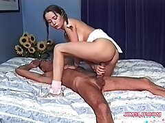 Old guy with a long dick enjoys fucking sexy younger sculpt Vanessa