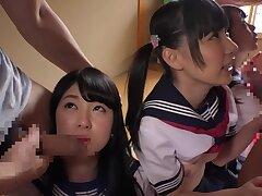 Asian amateur schoolgirl groupsex