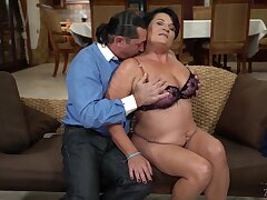 It seems mature brunette whore Dolly Bee is made for some horny doggy