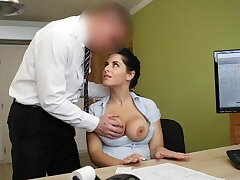 LOAN4K. Big-breasted hottie satisfies man to get necessary favour
