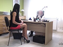 The breaks secretary Inga is correctly fucked doggy style by horny boss